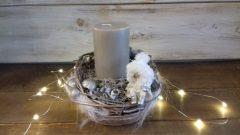 Karácsonyi asztaldsz, fehérarany 18x13