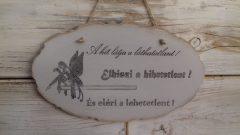 Fa táblácska tündérrel 25x15