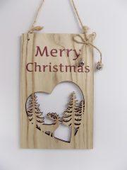 Karácsonyi táblácska 14x22 cm