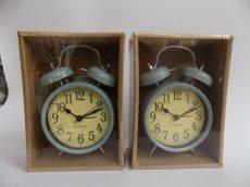 Ébresztő óra retro kék 16x10,5