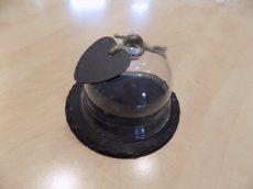 Palakő tálca üveg búrával Ø18cm