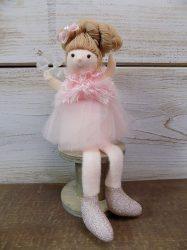 Textil kislány tüllszoknyában 20x10