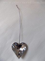 Kristály szív 4,5x4,5cm