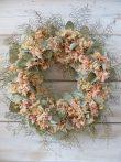 Ajtó/falidísz eukaliptusz, szárított virágokkal  Ø:40-50cm