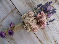 Nyári virágcsokor ajtó/falidísz 10x30cm