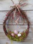 Húsvéti ajtódísz, természetes. 28x34-42