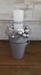 Karácsonyi asztaldsz ezüst 14x27