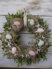 Húsvéti ajtódísz, természetes Ø:44cm
