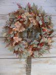 Őszi kopogtató/ajtódísz selyemvirágból ∅:36cm