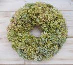 Szárított hortenziakoszorú (apró virágú) ∅:34cm