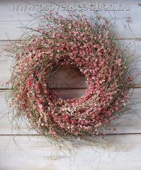 Tavaszi ajtódísz, ginestra rózsaszín ∅:40cm