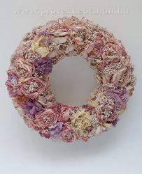 Virágkoszorú, szárított ∅:30cm
