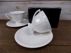 Porcelán kávés csészepár aljjal, 230 ml