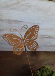 Betűzős fém dísz pillangó 8,5x6