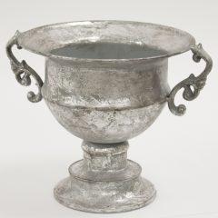 Óezüst antik fém kaspó 23x22