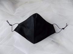 Védőmaszk, szájmaszk (hernyóselyem) fekete