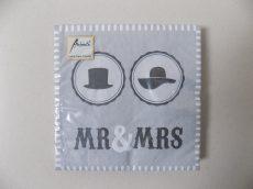 Ambiente papírszalvéta 33x33 Mr&Mrs