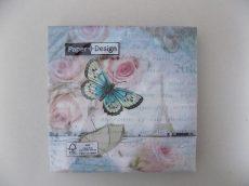 Papírszalvéta  pillangós 33x33