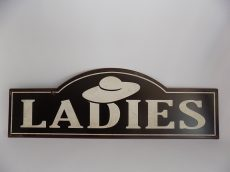 """Fém tábla 48x1x16cm,""""LADIES"""""""