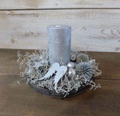 Karácsonyi asztaldísz ezüst 14x16