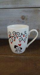 Porcelán bögre Valentin 10,5*8