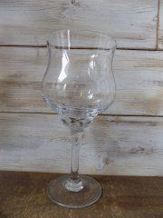 Óriás talpas pohár, üvegkehely váza. 30x∅:14cm