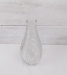 Üveg mécsestartó/váza 19x13