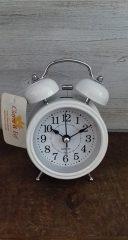 Clayre & Eef ébresztő óra kicsi fehér 8x12