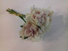 Selyemvirág csokor cirmos púder