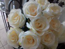 Rózsacsokor krém 42x22